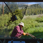Justin Sheely | The Sheridan Press Greybull resident Dave Walton pulls scrap from behind a garage for the workday day Saturday at Antelope Butte ski area in the Bighorn mountains. Dozens of  ...