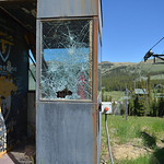 Justin Sheely | The Sheridan Press A damaged operators box is seen near the ski lift during a workday Saturday at Antelope Butte ski area in the Bighorn mountains. Dozens of volunteers from  ...