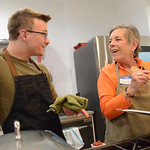 Justin Sheely | The Sheridan Press Guest instructor and nutritionist Jack Achenbach of Philadelphia, Tennessee, left, shares with Carolyn Kaiser during a cooking class at Verdello Olive Oils ...