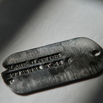 Justin Sheely | The Sheridan Press The dog tag of Clark Twiss who served in the U.S. Army during World War II. The dog tag was found near Park Reservoir in the Bighorn Mountains two years ag ...