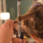 "Justin Sheely | The Sheridan Press An actress curls her hair in the dressing room during a full dress rehearsal for the WYO Theater Gala: ""Lend Me a Tenor"" Thursday evening at the WYO Th ..."