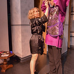 "Justin Sheely | The Sheridan Press Mona Garber, left, reaches up to touch up some makeup on Culley Emborg in the dressing room during a full dress rehearsal for the WYO Theater Gala: ""Lend ..."