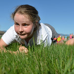 Justin Sheely | The Sheridan PressFourth-grader Parker Treide does a low crawl for a Marine combat fitness test at Woodland Park Elementary School Wednesday, May 16, 2018.. SCSD2 health and ...