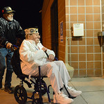 Justin Sheely | The Sheridan Press Pearl Harbor Survivor Mel Heckman is escorted into the Malcolm Wallop Terminal by Jim Schlenker for his send off Thursday morning on his flight to Hawaii f ...