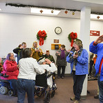 Justin Sheely | The Sheridan Press Veterans, friends and community members celebrate Pearl Harbor survivor Mel Heckman's return from Honolulu, Hawaii Friday at the Sheridan County Airport. ...