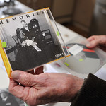 Ryan Patterson | The Sheridan Press Charles Neelley holds a CD with photos from his wedding day at his home in Story Wednesday, Oct. 24, 2018. Neelley served in the Navy from 1953-83 and has ...