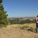 Ryan Patterson | The Sheridan Press Land broker Charlie Powers looks out at part of the OW Ranch near Decker, Montana, Monday, Sept. 17, 2018. The ranch, measuring about 50,000 acres, is on  ...