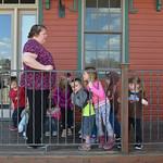 Justin Sheely | The Sheridan PressTeacher Tanya Buchanan lets the children play outside to burn some energy at Sheridan Absaroka Head Start at the Historic Train Depot Tuesday, April 24, 20 ...