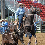 Justin Sheely | The Sheridan Press Katie Jo Kendrick of Mountain View, Wyoming, competes in breakaway roping during the Sheridan High School Rodeo at the Sheridan County Fairgrounds Saturday ...