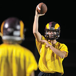Bud Denega | The Sheridan Press Quinn McCafferty tosses a ball during the Rams' Midnight Madness, which kicked off the fall practice season, at Big Horn High School Monday, August 13, 2018 ...