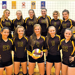 Ashleigh Fox | The Sheridan Press The Big Horn High School volleyball team includes, front row, from left, Mary Nicholson, Courtney Wallach, Carley Motsick, Jordan Frank and Anna Melin; back ...