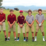 Ryan Patterson | The Sheridan Press The Big Horn High School golf team includes, from left, head coach Lamont Clabaugh, Katie Carter, Garrett Baker, Cody Baker, Garrett Schueber, Bode Neeson ...
