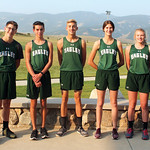 Ryan Patterson | The Sheridan Press The Tongue River High School cross country team includes, from left, Weston Beadle, Carsen McArthur, Jason Barron, Jett Walker, Macey McArthur, Kalie Boce ...