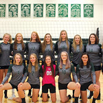 Ryan Patterson | The Sheridan Press The Tongue River High School volleyball team includes, front row, from left, Jane Pendergast, Maya Fritz, Katy Kalasinsky, Hanna Hill and Izabella Carbert ...