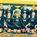 Bud Denega | The Sheridan Press The Arvada-Clearmont volleyball team includes, front row, from left, Krista Malli, Peityn Manor, Kiara Neill, Kailei Beam, Kerri Malli; and top row, from left ...