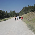 Bud Denega | The Sheridan Press Red Grade Road serves as the closing stretch to the Sheridan High School cross-country team's mountain camp's longest run.
