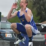 Bud Denega | The Sheridan PressSheridan's Alec Riegert warms up prior to the 300-meter hurdles during the state track and field meet at Kelly Walsh High School Saturday, May, 19, 2018.