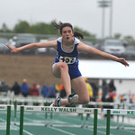 Bud Denega | The Sheridan PressSheridan's Piper O'Dell competes in the 300-meter hurdles during the state track and field meet at Kelly Walsh High School Saturday, May, 19, 2018.