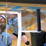 Matthew Gaston | The Sheridan PressArvada-Clearmont's Krista Malli (14) makes the save during the match with Midwest Friday, Oct. 18, 2019. The Lady Panthers defeated the Lady Oilers in th ...