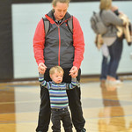 Ryan Patterson | The Sheridan Press Kerri Malli and 3-year-old Kase Manor stand on the court after a game against Ten Sleep at Arvada-Clearmont High School Saturday, Jan. 19, 2019. The Panth ...
