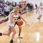 Ryan Patterson   The Sheridan PressBig Horn's Alisyn Hutton drives the ball in the Foothills Classic at Big Horn High School Friday, Dec. 14, 2018. The Lady Rams lost 68-36.