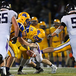 Justin Sheely | The Sheridan Press Sheridan's Kyle Custis fumbles the ball for a Camel turnover during the rivalry game against Gillette Friday night at Scott Field in Sheridan. The Broncs ...