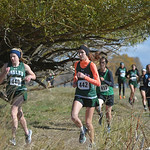 Justin Sheely | The Sheridan PressTongue River's Kalie Bocek, left, and Macey McArthur run during the 2A east conference cross-country meet Saturday at Tongue River High School in Dayton.
