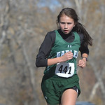 Justin Sheely | The Sheridan PressTongue River's Holly Hutchinson competes in the 2A east conference cross-country meet Saturday at Tongue River High School in Dayton.