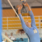 Justin Sheely | The Sheridan PressSheridan's Mallory Noble sets the ball during the game against Laramie County Community College Friday in the Bruce Hoffman Golden Dome at Sheridan Colle ...