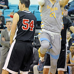 "Sheridan College's Channel Banks, right, in the Nike Kobe 8 ""Blitz Blue"""