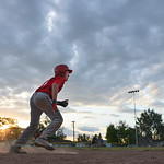 Justin Sheely | The Sheridan Press Reds player Michael Greer sneaks up on home for a 5th and 6th grade game against the Dodgers during the Sheridan Recreation District's Little League Base ...