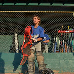 Justin Sheely | The Sheridan Press Dodgers' catcher Dane Steel puts his gear on as the Reds move to the plate for a 5th and 6th grade game during the Sheridan Recreation District's Littl ...