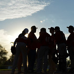 Justin Sheely | The Sheridan Press The Reds huddle between innings for a 5th and 6th grade game against the Dodgers during the Sheridan Recreation District's Little League Baseball Wednesd ...