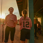 Justin Sheely | The Sheridan Press Jenna Coook returns to the dugout after striking out during the Sheridan Recreation District's 6 – 8th grade Pony League girls softball championship ga ...