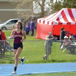 Matthew Gaston | The Sheridan PressBig Horn's Reata Cook settles into a steady pace during the girls 3200-meter run at Homer Scott Field Friday, May 10, 2019.
