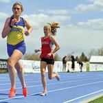 Matthew Gaston | The Sheridan PressSheridan's Sarah Gonda quickens her pace during the 3200-meter run at the regional track meet Friday, May 10, 2019.