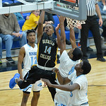 Xavier Jackson shoots a contested floater on Wednesday, Jan. 11 at the Pronghorn Center in Gillette. Mike Pruden | The Sheridan Press