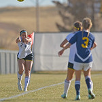 Sheridan College's Kylee Olson throws the ball in during the Lady Generals' Region IX Tournament match against Trinidad State Junior College on Friday, Oct. 20 at Maier Field. Mike Prude ...