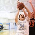 Matthew Gaston | The Sheridan PressSheridan College's Lani Taliauli (54) scores two from the paint against Central Wyoming College Saturday, Feb. 16, 2019.