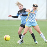 Katelynn Brooks battles for the ball during Sheridan College's 3-1 win over Gillette College Saturday.Ryan Patterson | The Sheridan Press