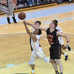 Bud Denega | The Sheridan Press Sheridan College's Josh Bagley swoops in for a shot during the Generals' game against Central Wyoming College at the Bruce Hoffman Golden Dome Saturday, F ...