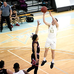 Matthew Gaston | The Sheridan PressSheridan College's Tristan Bower (23) pulls up to hit the fade away jumper against Northwest Wednesday, Feb. 19, 2020. The Generals won 94-82.