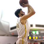 Matthew Gaston | The Sheridan PressSheridan College's Jarin Fritz (34) elevates for the three point shot from the corner during play against Northwest Wednesday, Feb. 19, 2020. The General ...