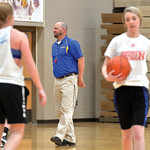 Matthew Gaston | The Sheridan PressHead coach Larry Ligocki center, gives some tips on shooting drills during the Sheridan High School girls basketball team's open practice Tuesday, Nov. 1 ...