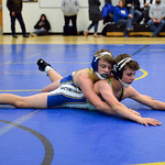 Joel Moline | The Sheridan Press Sheridan's Cole Hansen takes the top position over teammate Drake Figusduring the Blue/Gold Dual Tuesday, Dec. 10, 2019.