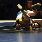 Matthew Gaston | The Sheridan PressSheridan's Reese Osborne manuevers Worland's Kein Andersn into postion for the pin Thursday, Dec. 12, 2019.