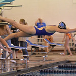 Bud Denega | The Sheridan Press Zoe Robison dives in during the Sheridan Pre-Invite at Sheridan Junior High Friday, Sept. 21, 2018. The Lady Broncs host the Sheridan Invite Saturday beginnin ...