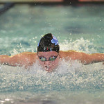 Bud Denega | The Sheridan Press Taylor Baldacci swims the third leg of the 200-meter medley relay during the Sheridan Pre-Invite at Sheridan Junior High Friday, Sept. 21, 2018.