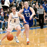 Joel Moline | The Sheridan Press Sheridan's Sydni Bilyeau (1) draws a foul while driving to the basket against Thunder Basin High School Friday, Jan. 24, 2020.