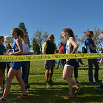 Justin Sheely | The Sheridan Press Runners walk up the line in the order they crossed the finish line during the Class 3A girls State Cross-Country Championship Saturday at the Veterans Affa ...